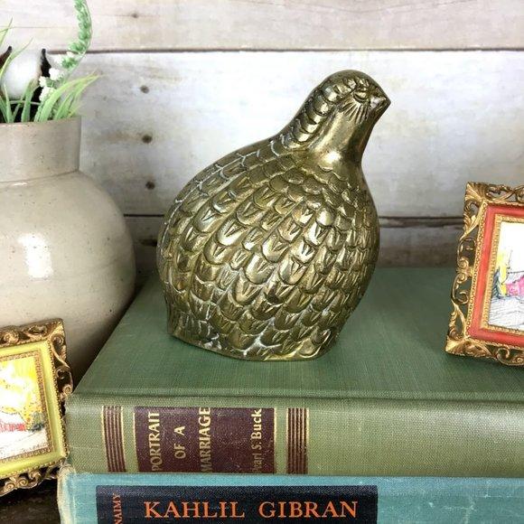 Vintage Other - Vintage Brass Fancy Quail Grouse MidMod Game Bird